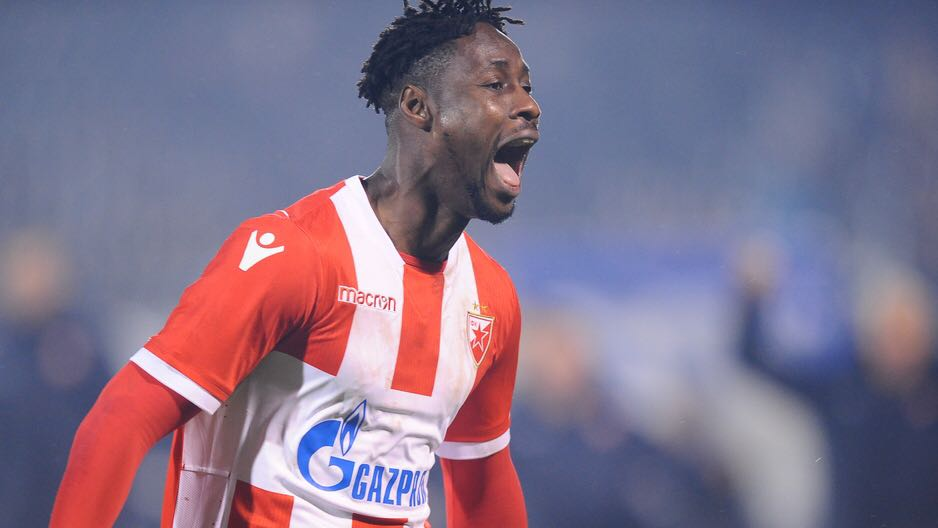 Boakye Yiadom scores as Red Star Belgrade progress to the next round of Champions League play-offs