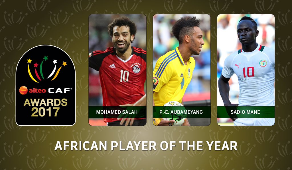 CAF announces final shortlist for 2017 African Player Of The Year