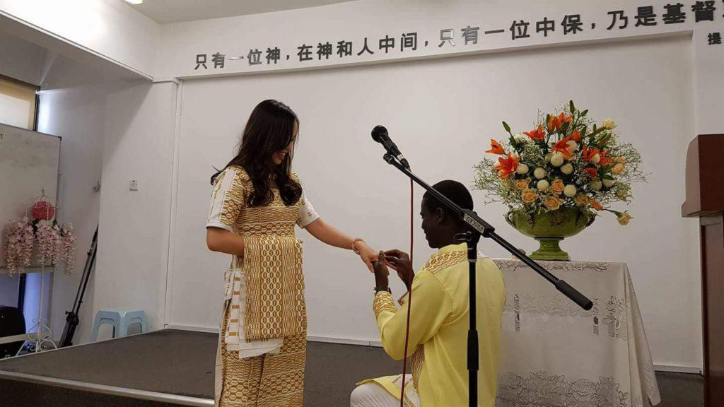 Ghanaian international Patrick Asare marries long time Malaysian girlfriend