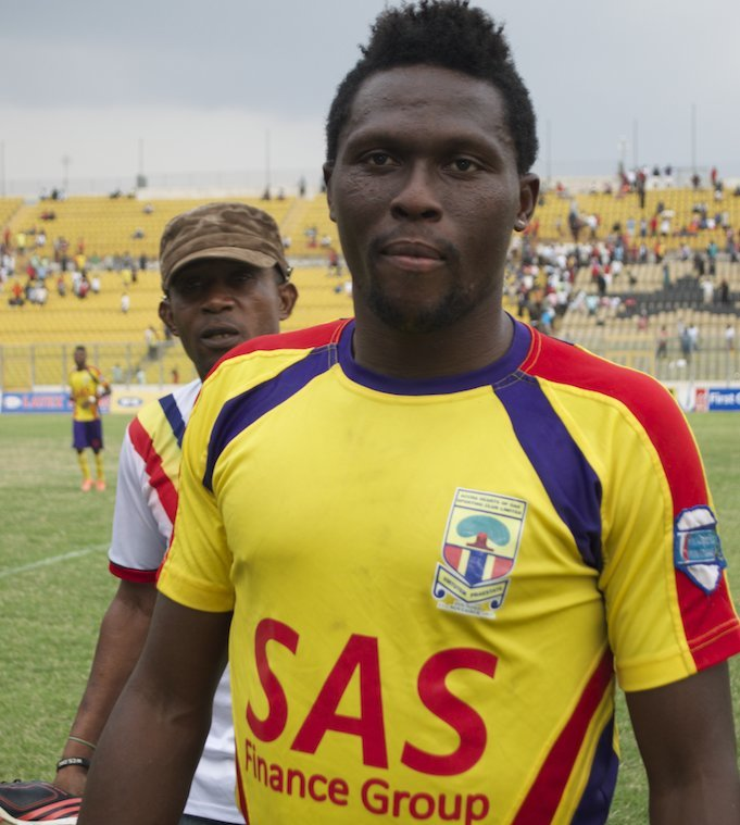 Free agent striker Gilbert Fiamenyo set for sensational return to Hearts of Oak