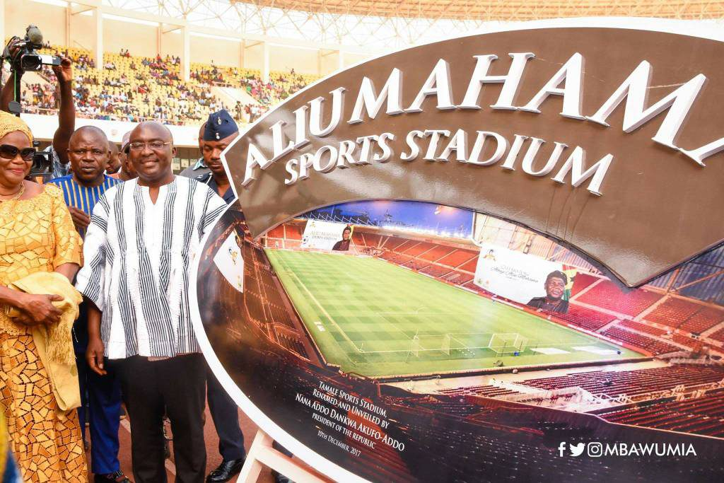 OFFICIAL: Tamale Sports Stadium now Aliu Mahama Sports Stadium