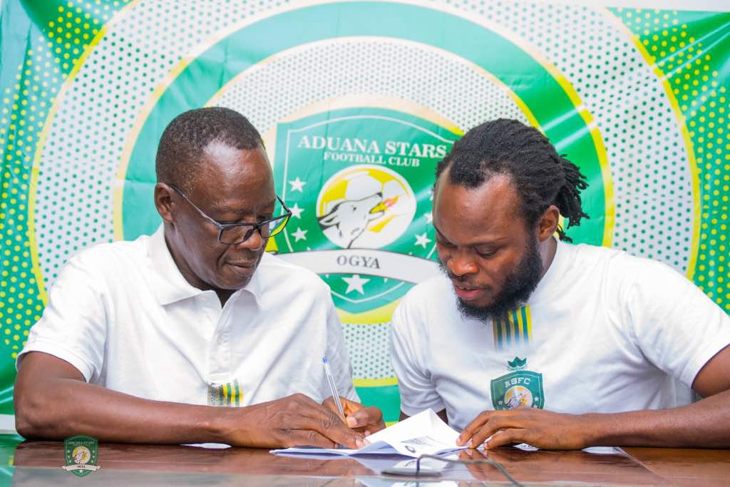 PHOTOS: Yahaya Mohammed completes Aduana Stars return