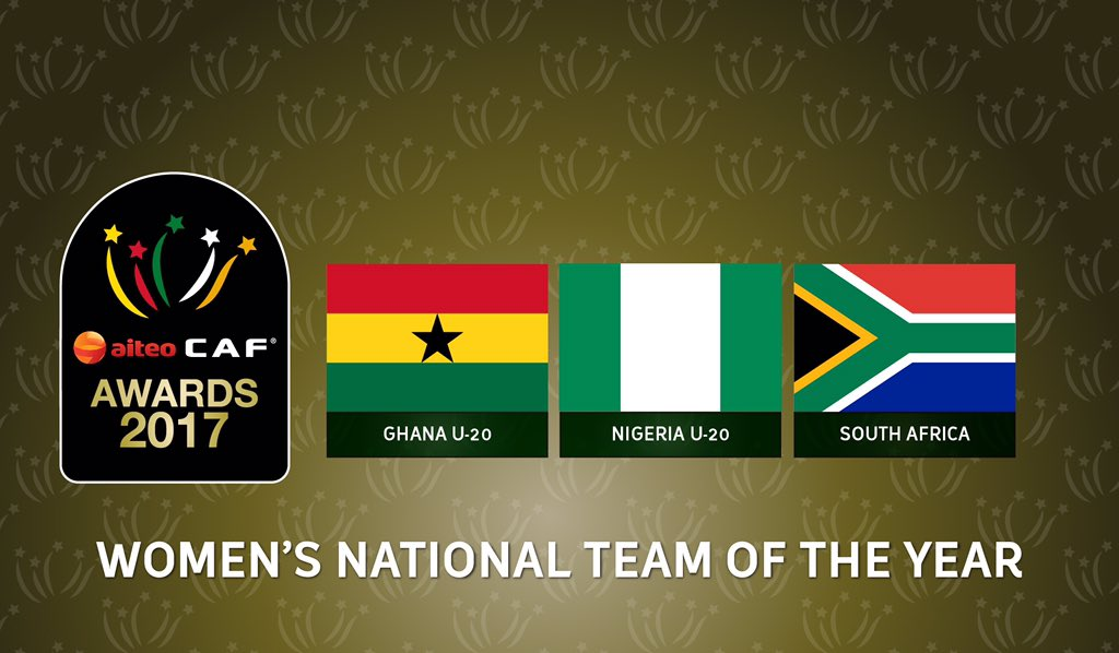 Black Princesses among three finalists for CAF Women's National Team of the Year