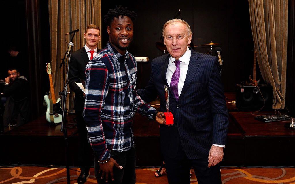 PHOTOS: Ghana striker Richmond Boakye-Yiadom scoops Red Star Belgrade Player of the Year award