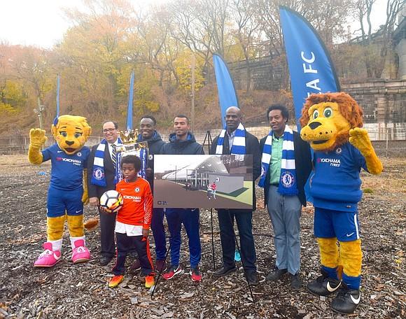 Ghana superstar Micheal Essien dedicates field in Harlem as part of Chelsea legends New York tour