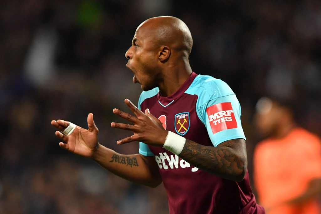 Andre Ayew plays as substitute as his struggling West Ham gain shock victory over Chelsea