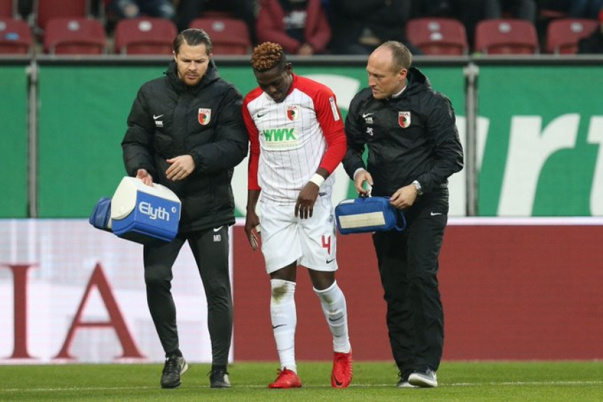 Ghana defender Daniel Opare suffers muscle injury in Augsburg draw against Freiburg