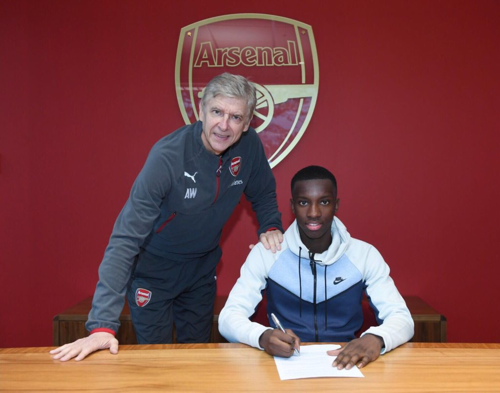 Ghanaian youngster Eddie Nketiah signs new long-term contract with Arsenal
