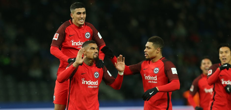 Kevin-Prince Boateng fires Frankfurt to 2-1 win at hometown club Hertha Berlin