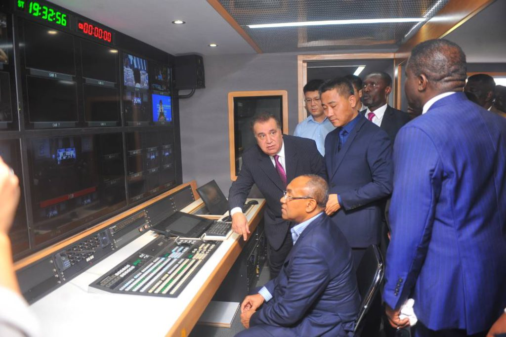 PHOTOS: GHPL Broadcast Sponsors StarTimes unveil HD OB Van for league coverage
