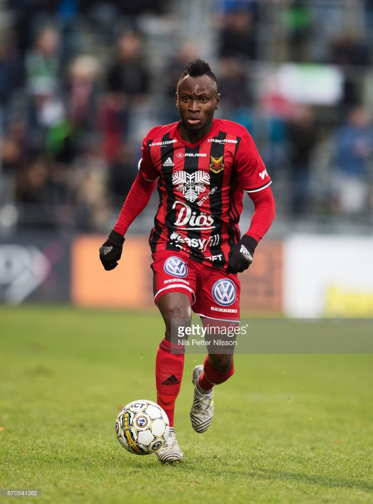 Samuel 'Mensiro' Mensah buoyant of Ostersunds FK chances against Arsenal FC in Europa League Round of 32