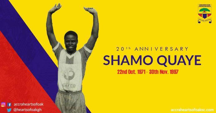 Hearts of Oak remembers Shamo Quaye