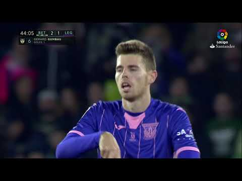 Golazo de Gumbau (2-1) Real Betis vs CD Leganés