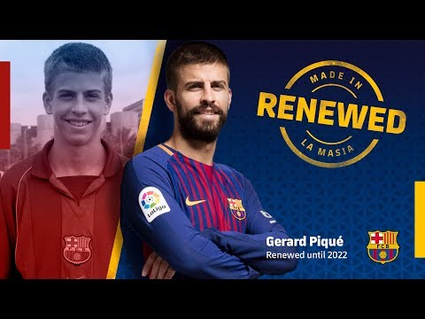 Gerard Piqué renews with FC Barcelona until 2022