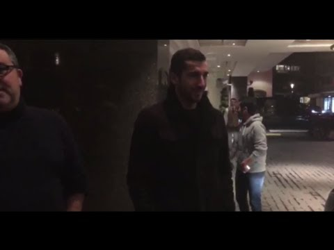 Mkhitaryan arrives in london ahead of Arsenal move