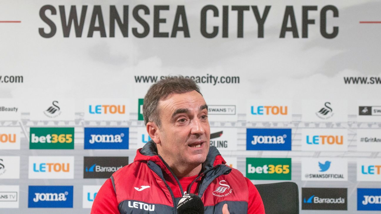 Carvalhal '100 percent' confident Swansea can avoid relegation
