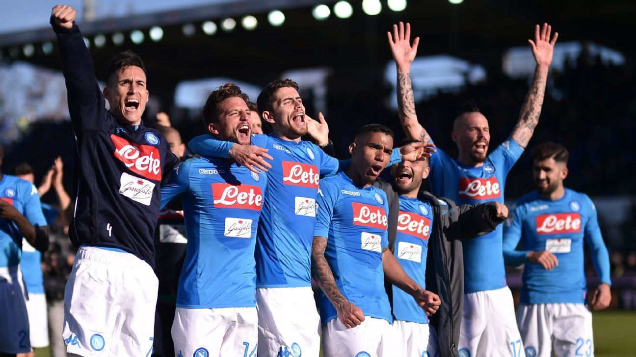 Napoli go four points clear at top of Serie A; Lazio move above Inter