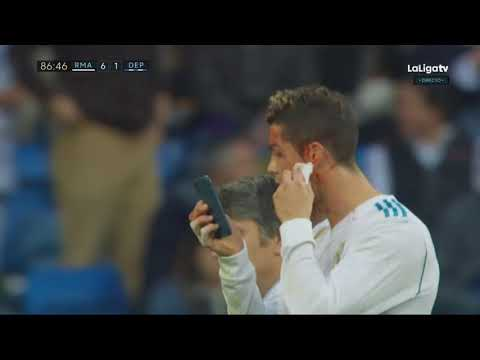 Cristiano Ronaldo Face Injury - Real Madrid vs Deportivo La Coruna 7-1 - La Liga 21/01/2018 HD