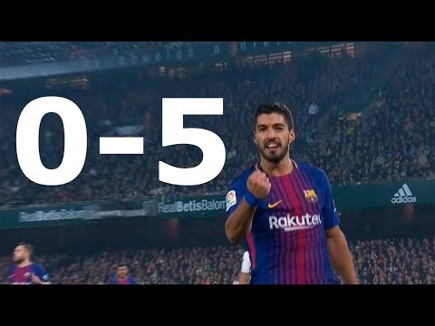 Real Betis vs Barcelona La Liga 0-5 All Goals & Highlights HD 21/01/2018