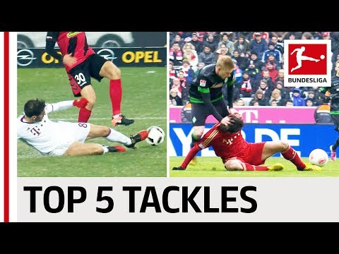 Javi Martinez vs. De Bruyne, Firmino & More - Top 5 Tackles