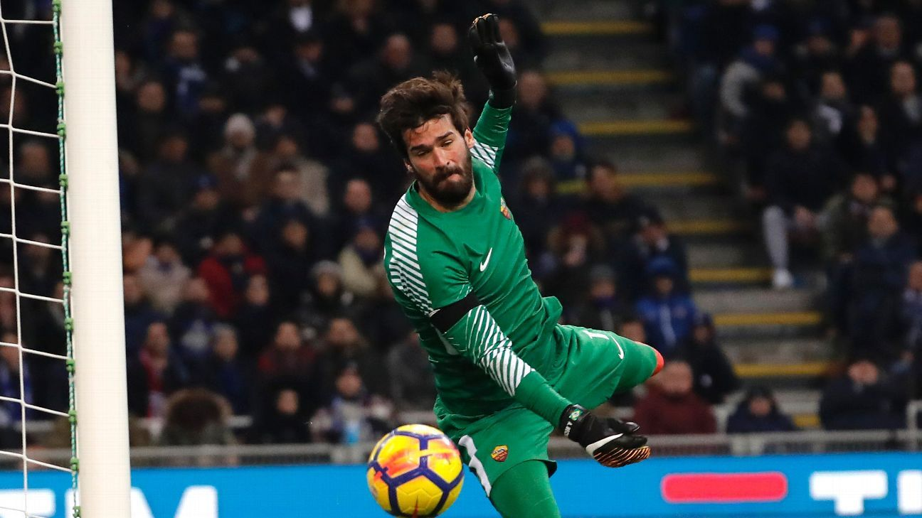 Alisson man of the match for Roma in draw at Inter Milan