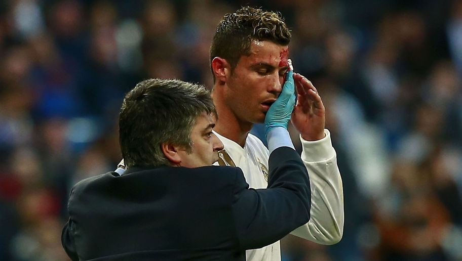 VIDEO: Cristiano Ronaldo Receives Treatment for Gruesome Head Injury Suffered Against Deportivo