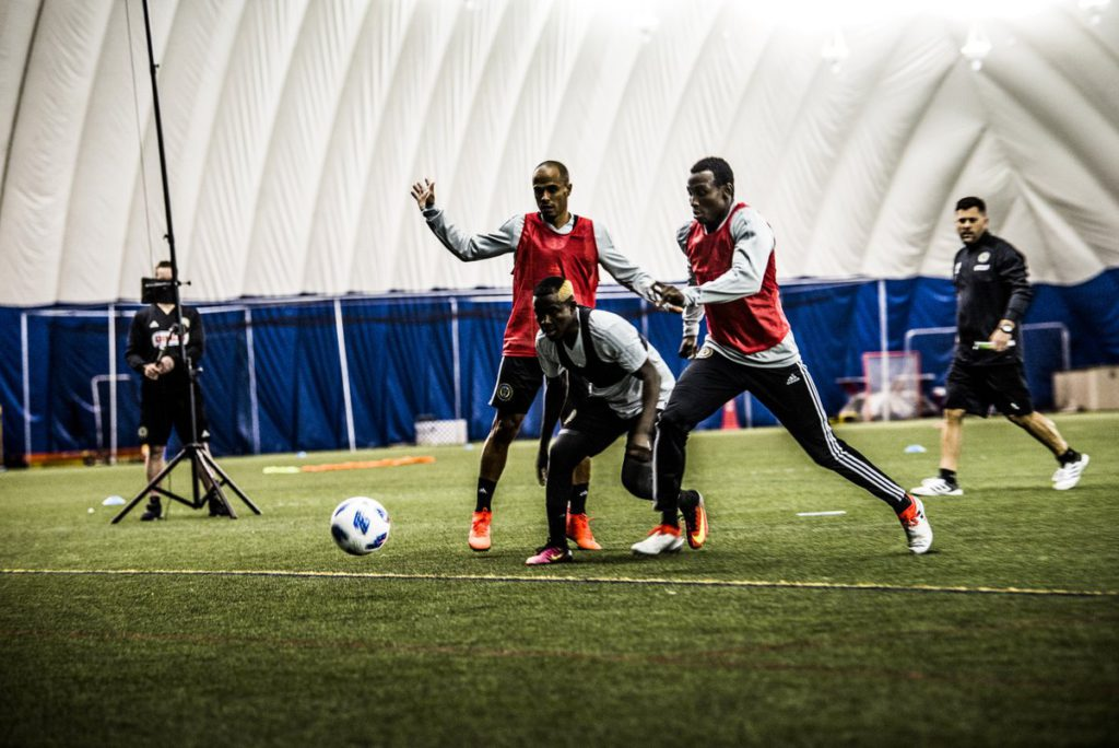 VIDEO: Watch David Accam first training session with Philadelphia Union