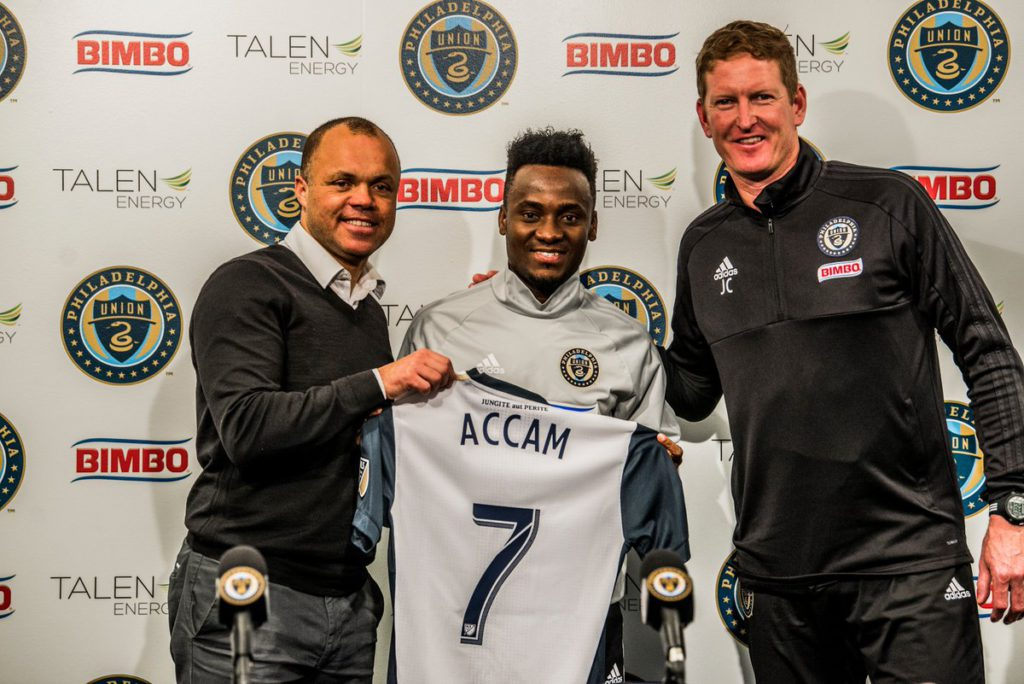 Ghana forward David Accam aims to repay Philadelphia Union faith through hardwork