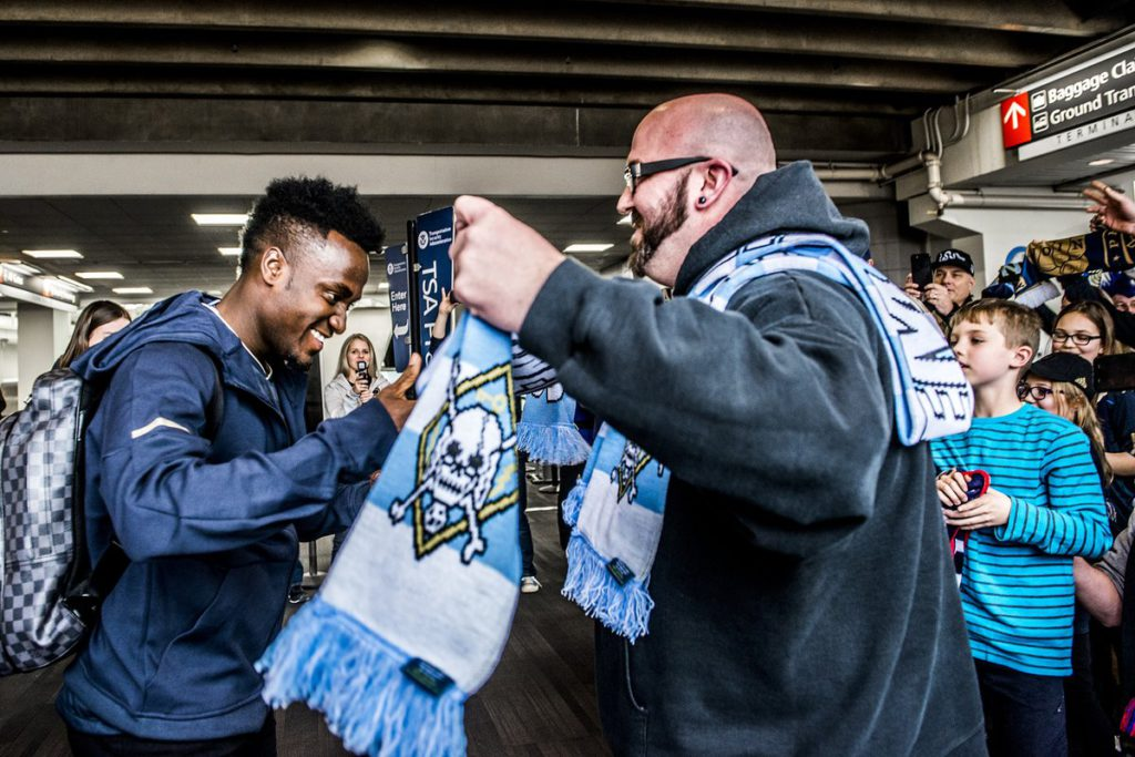 VIDEO: David Accam gets hero's welcome at Philadelphia Union