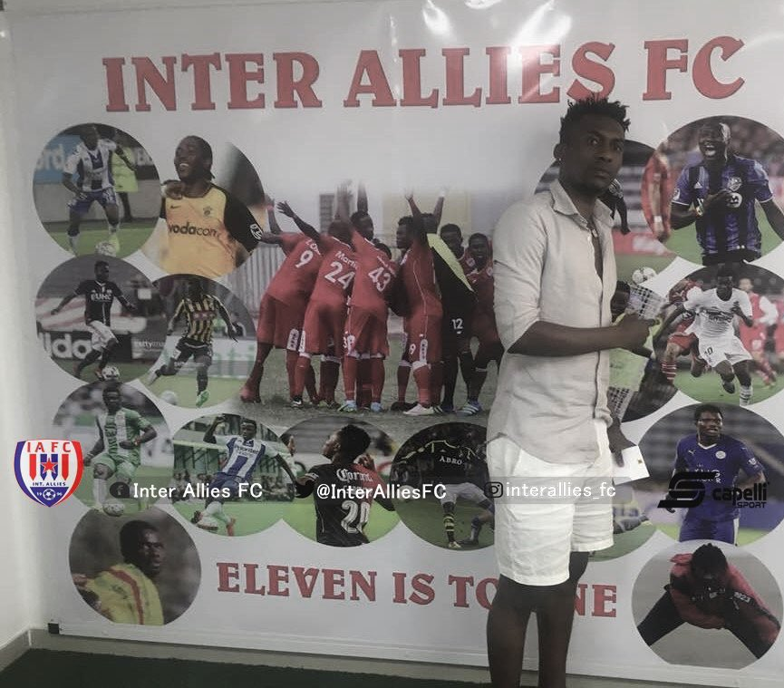 Latvia-based David Addy visits former club Inter Allies
