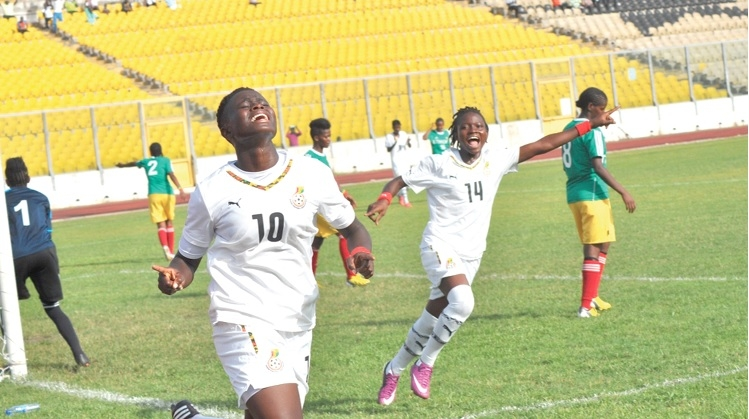 Black Princesses goal poacher Priscilla Adubea battles Priscilla Okyere and Ruth Appiah for 2017 SWAG Female Football of the Year