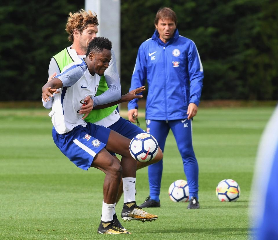 Returning Baba Rahman gets game time in Chelsea's reserve team as he builds up his fitness