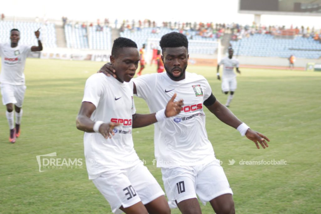 Match Report- Dreams FC 1-0 Elmina Sharks: Sharani Zubeiru scored at the death to hand Dreams FC maximum points