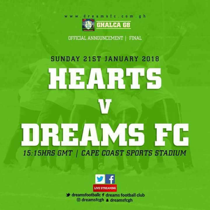 LIVE: Hearts of Oak - Dreams FC - 2018 GHALCA G8