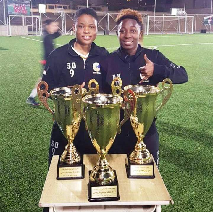 Duo Alice Kusi and Sandra Owusu Ansah win three trophies with Lebanese side Zouk Mosbeh FC