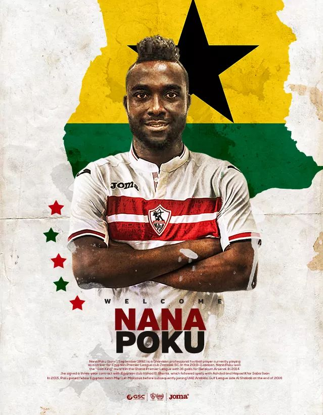 Zamalek scoop Ghanaian striker Nana Poku from Al Misr