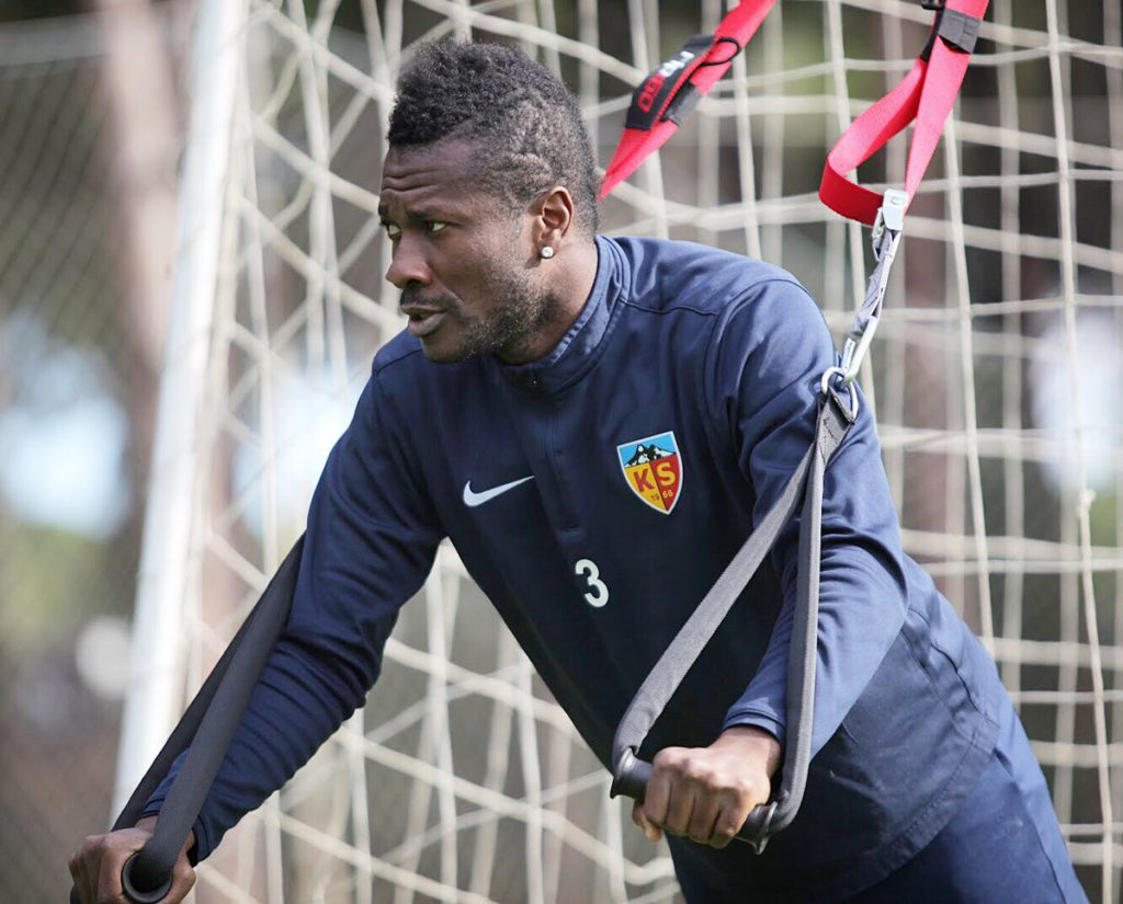 Kayserispor forward Asamoah Gyan bemoans his injuries situation in Turkey