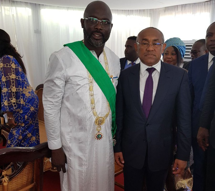 Former Ballon d'Or winner George Weah sworn in as Liberia president