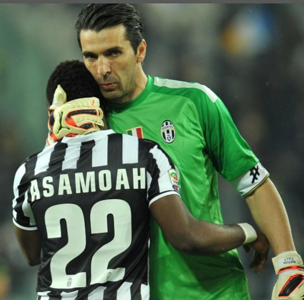 Ghana' Kwadwo Asamoah celebrates iconic Buffon as he turns 40 today