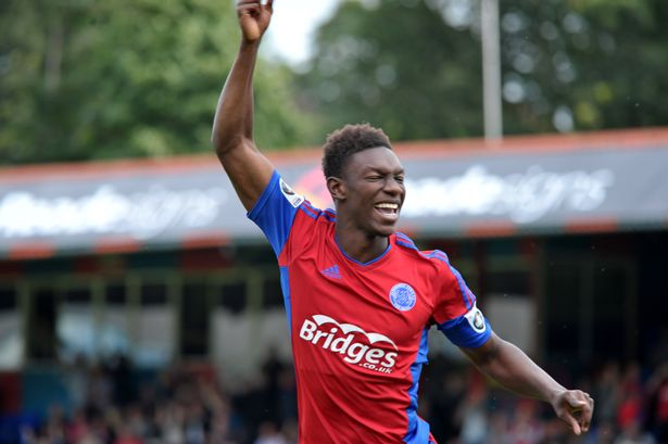Bernard Mensah scores for relegated Aldershot against