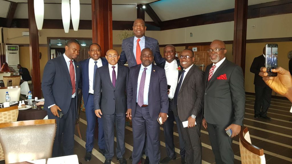CAF President Ahmad leads a powerful delegation to Liberia for Weah's inauguration