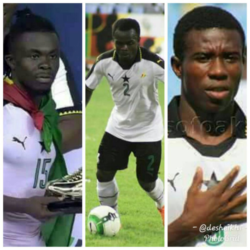 WAFU star Stephen Sarfo in cartilaginous contest with Thomas Abbey and Amos Frimpong for 2017 SWAG Local Footballer of the Year Award