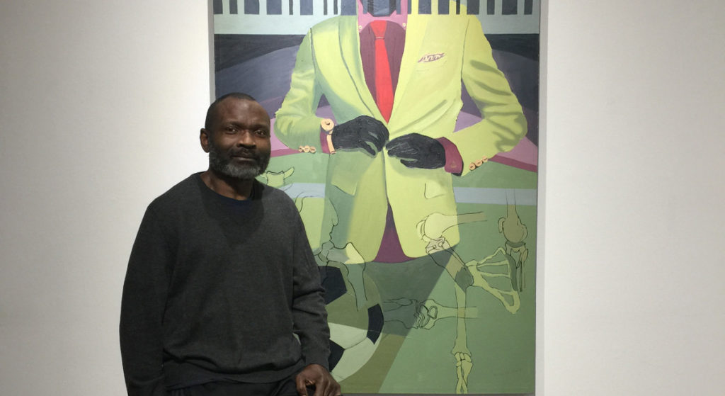 Soccer meets colonialism in George Afedzi Hughes' paintings at BAS