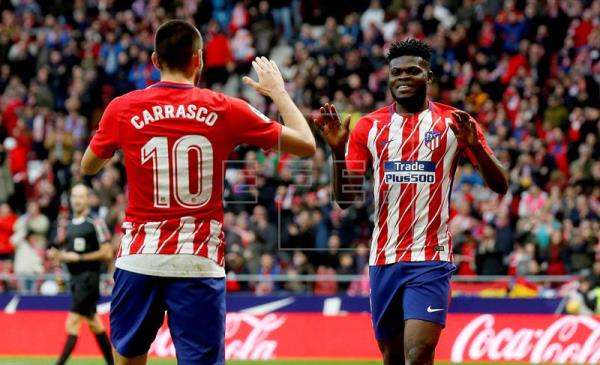 Thomas Partey delighted with Atletico Madrid heavy win over FC Copengahen in Europa League