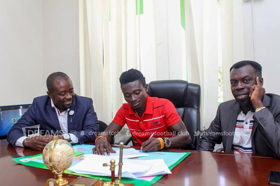 Dreams FC complete signing of sought-after Kwadjo Asamoah
