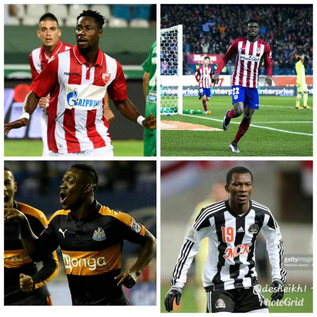 Atletico Madrid star Thomas Partey to wrestle with Boakye Yiadom and two others for 2017 SWAG Footballer of the Year