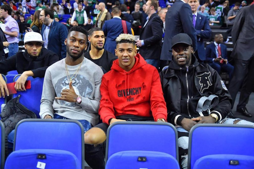 Ghanaian players Jeffery Schlupp and Fosu Mensah attend NBA London