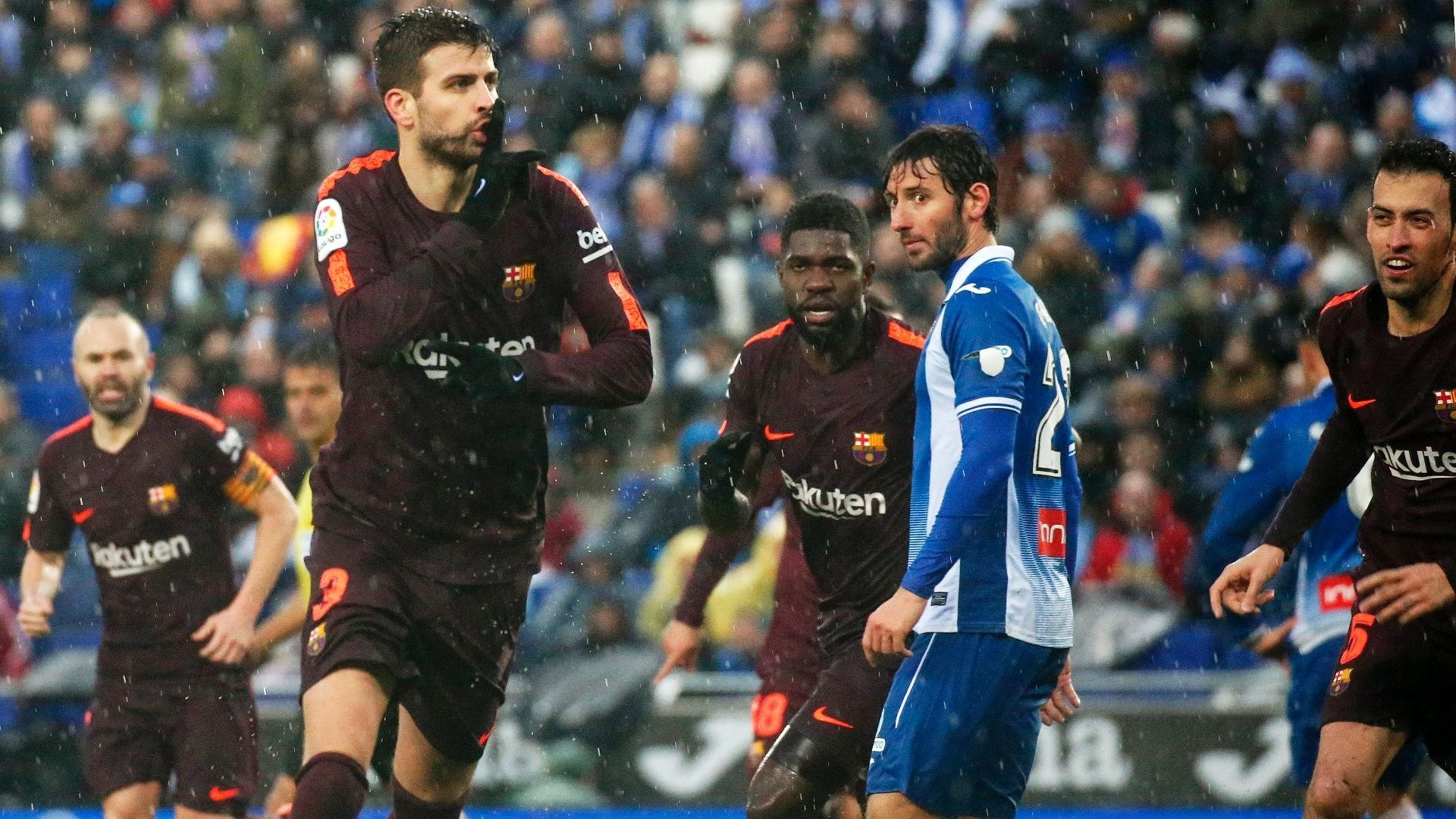 Pique stokes Espanyol row after late equaliser Ghana