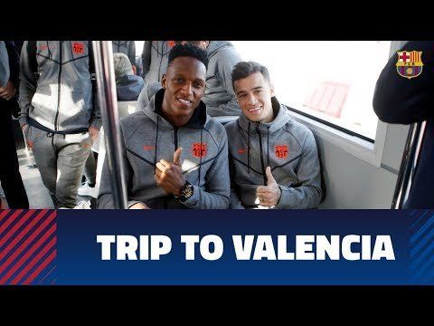 Barça's flight to Valencia for Cup semifinal