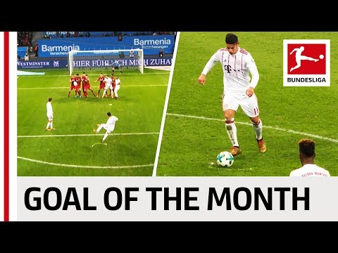 James Rodriguez - January 2018's Goal of the Month Winner